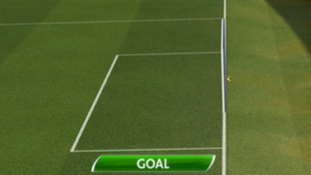 Goal-line technology confirmed West Brom's equaliser had crossed the line before Fulham goalkeeper Maarten Stekelenburg could retrieve it.