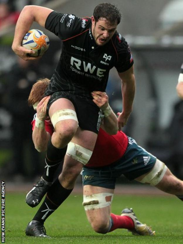 Home flanker Tyler Ardron is also halted