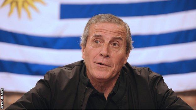 Uruguay coach Oscar Washington Tabarez