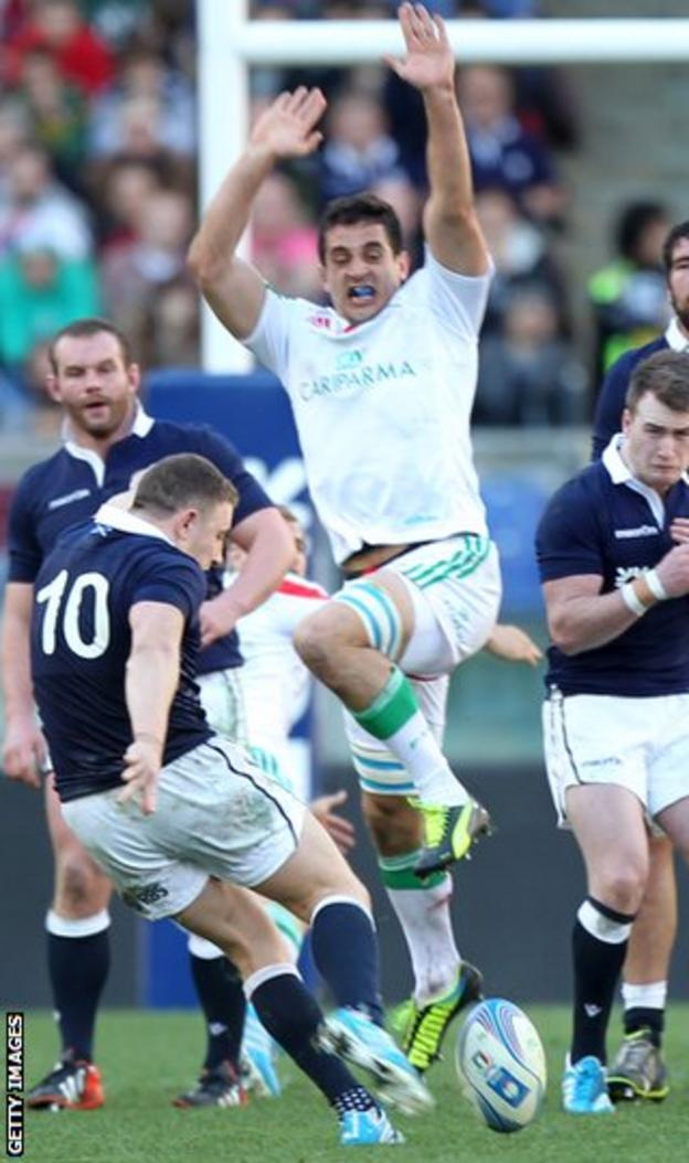 Duncan Weir's drop goal clinched victory for the Scots