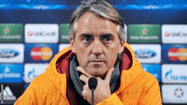 Galatasaray boss Roberto Mancini
