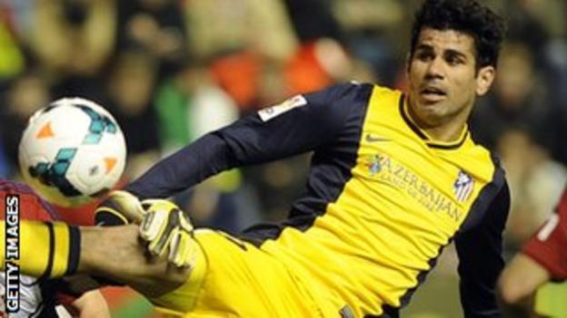 """Atletico Madrid""""s Brazilian forward Diego da Silva Costa"""
