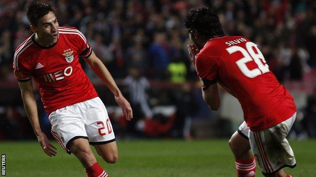 Gaitan of Benfica v PAOK