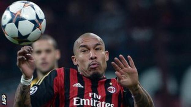 AC Milan midfielder Nigel de Jong spent three-and-a-half seasons at Man City