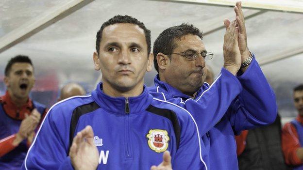 David Wilson and coach Allen Bula