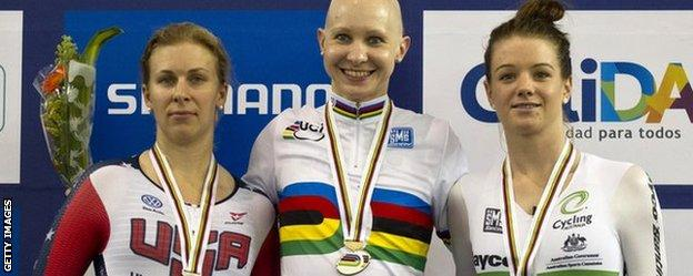 Sarah Hammer, Joanna Rowsell and Amy Cure
