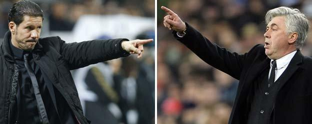 Diego Simeone and Carlow Ancelotti