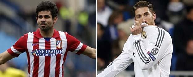 Diego Costa and Sergio Ramos