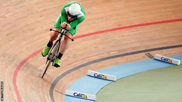 Martyn Irvine in action in Cali