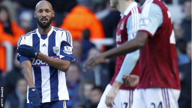 West Brom striker Nicolas Anelka