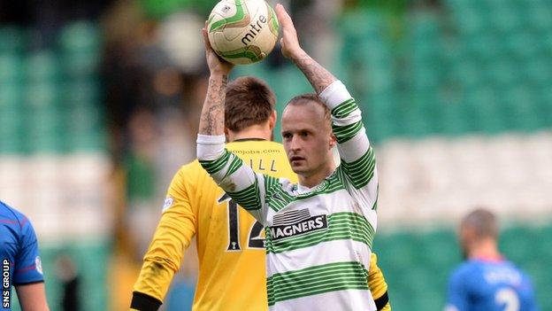 Leigh Griffiths scored a hat-trick against Inverness