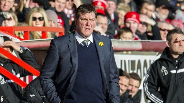 Tommy Wright felt St Johnstone deserved more from the defeat to Aberdeen