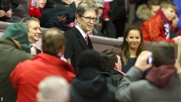 Liverpool owner John W Henry