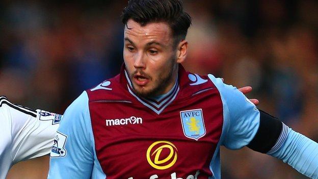 Aston Villa's Australian midfielder Chris Herd