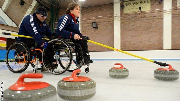 GB wheelchair curlers Gregory Ewan and Aileen Neilson