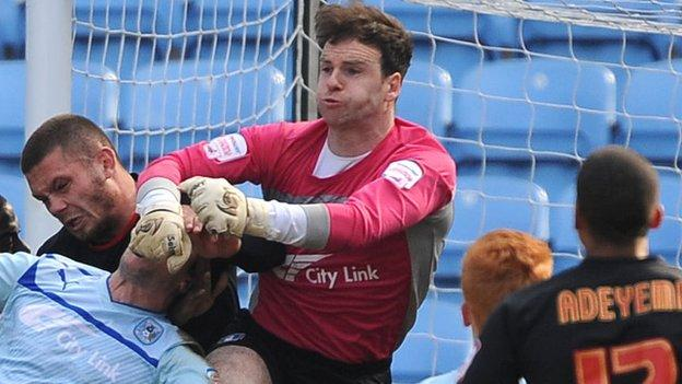 Coventry City keeper Joe Murphy