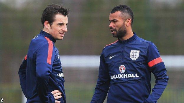 Leighton Baines is to be rested when England play Denmark on Wednesday.