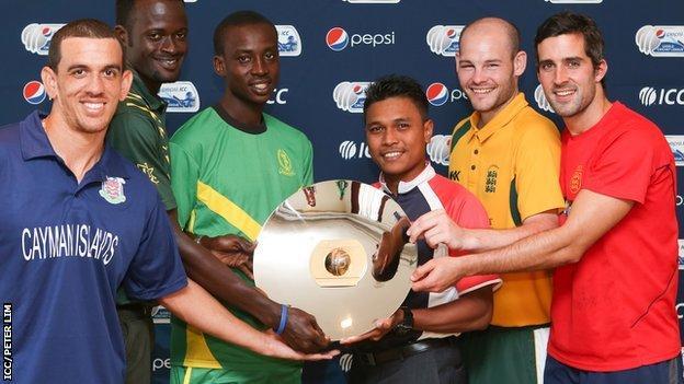 Team Captains with the trophy (L-R) Ronalds Ebanks, Adekunle Adegbola, Hamisi Abdallah, Ahmad Faiz Mohammad Noor, Jamie Nussbaumer and Peter Gough