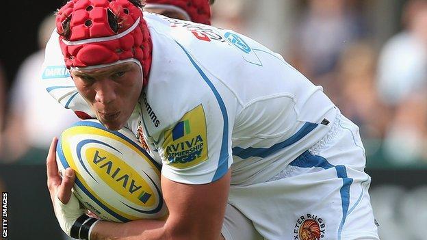 Exeter back-row forward Tom Johnson