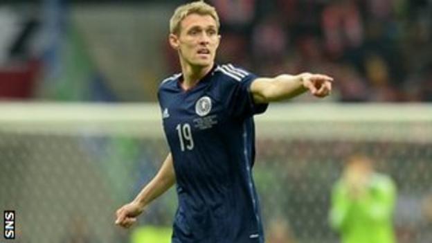 Scotland midfielder Darren Fletcher