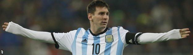 Argentina skipper Lionel Messi