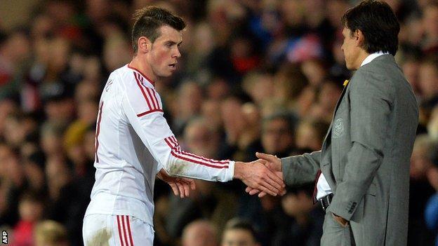 Gareth Bale Chris Coleman Wales v Iceland