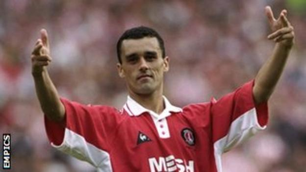 Clive Mendonca celebrates after the 1998 play-off final