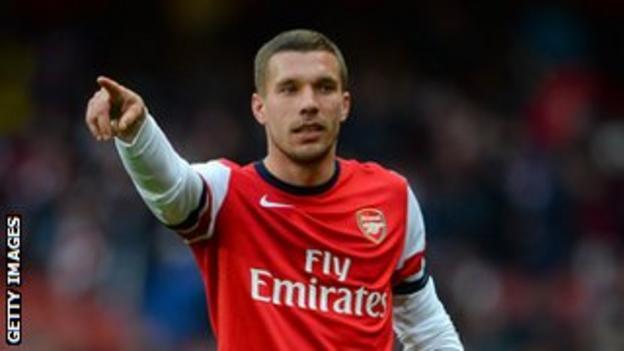 Arsenal striker Lukas Podolski