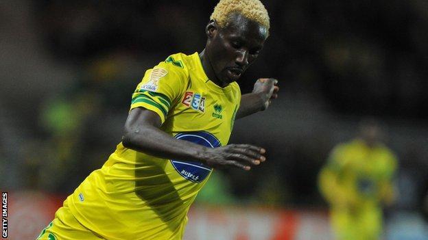 Nantes' Ismael Bangoura