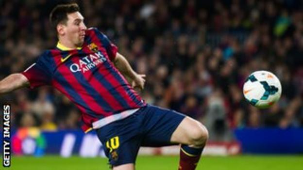 Barcelona forward Leo Mess