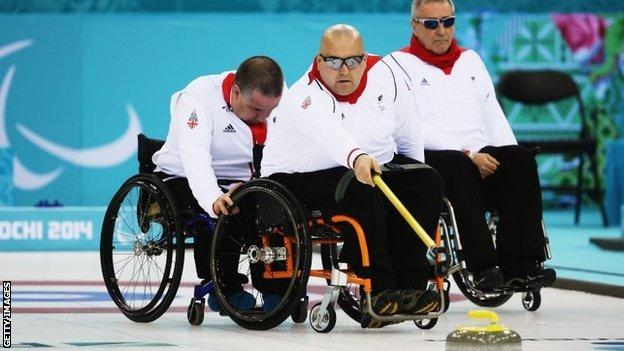 The GB wheelchair curling team