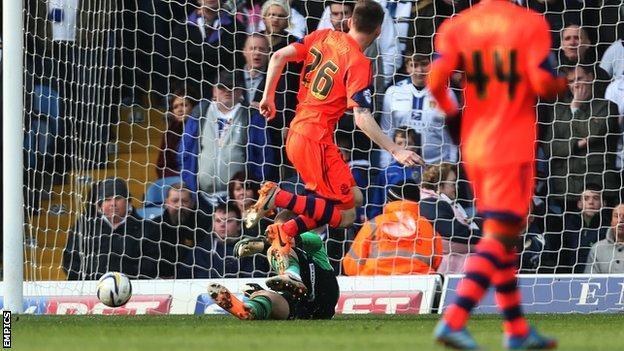 Bolton's Joe Mason puts his side in front at Leeds