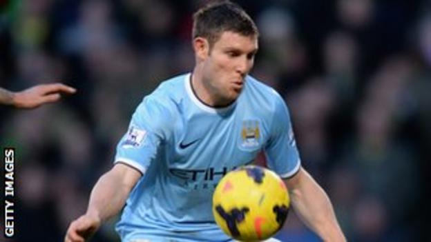 Manchester City midfielder James Milner