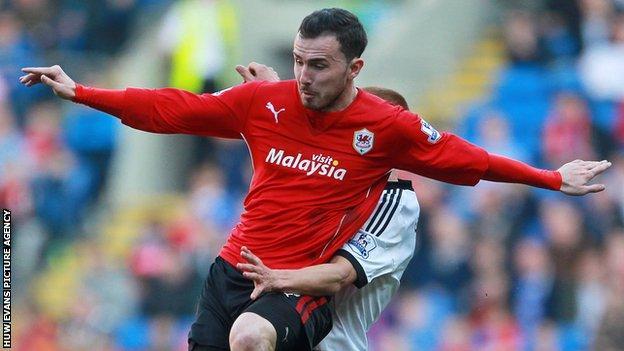 Cardiff City player Jordon Mutch
