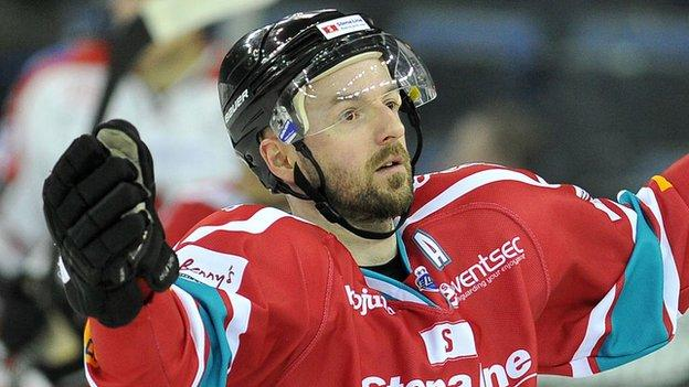 Colin Shields scored two for the Belfast Giants against Sheffield Steelers