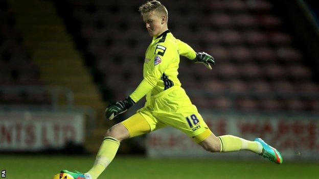 Carlisle United goalkeeper Jordan Pickford