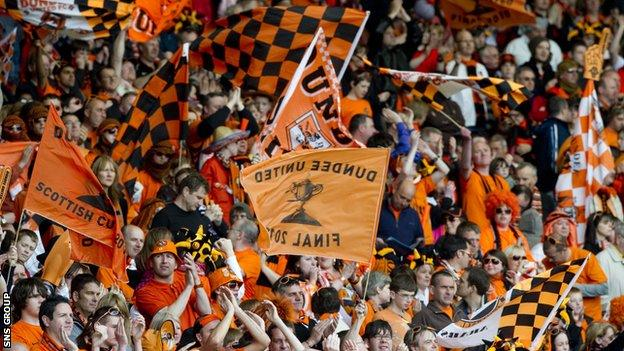 Dundee United fans are hoping for anotehr cup final day out