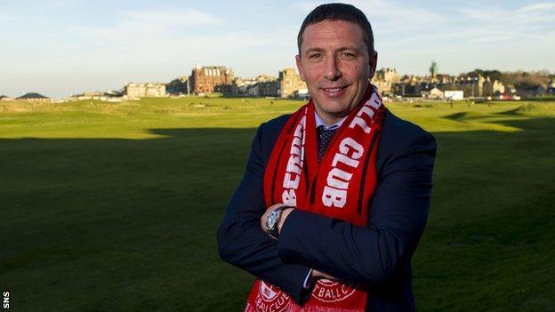 Aberdeen manager Derek McInnes at St Andrews
