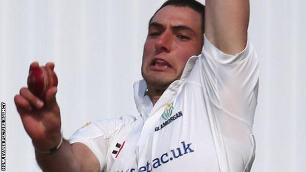 Glamorgan bowler Mike Reed