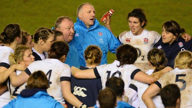 Gary Street and the England Women's squad