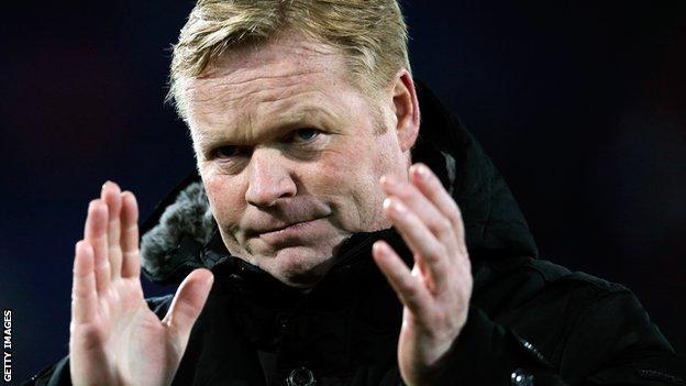 Feyenoord manager Ronald Koeman