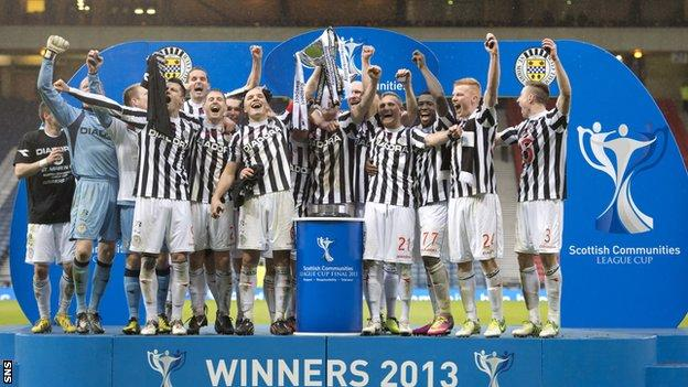 St Mirren won the League Cup final last season