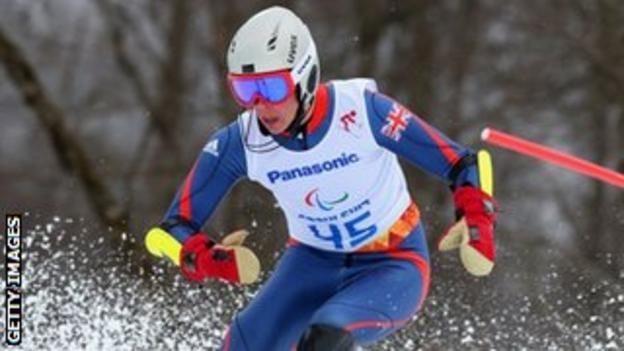 GB standing skier James Whitley