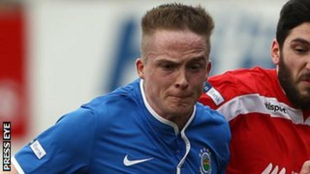 Linfield midfielder Aaron Burns is doubtful with flu-like symptoms