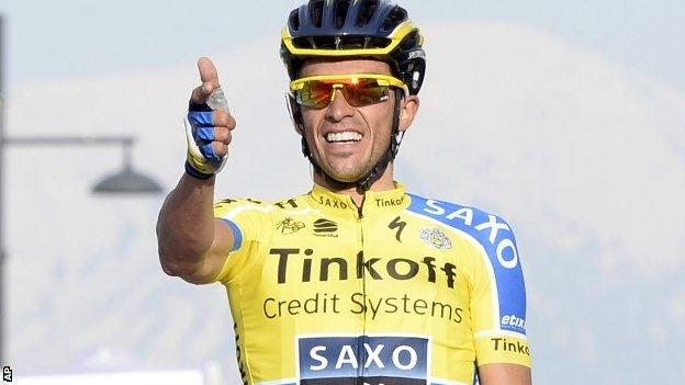Alberto Contador wins stage four of the Tirreno-Adriatico