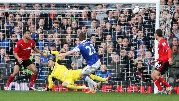 But Cardiff are denied a point by Seamus Coleman's injury time winner for Everton.