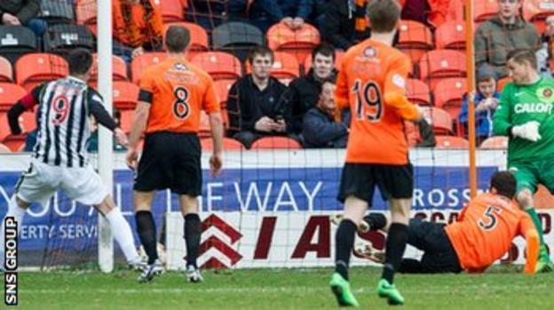 Steven Thompson had put St Mirren 2-0 ahead before half time