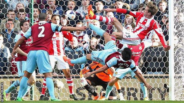 Stoke's equaliser against West Ham