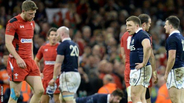 The result in Cardiff was a record Six Nations defeat for Scotland