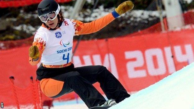 Dutch para snowboarder Bibian Mentel-Spee